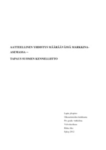 Aatteellinen Yhdistys Mrvss Markkina Asemassa Tapaus Suomen