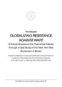 Globalizing resistance against war? : a critical analysis of